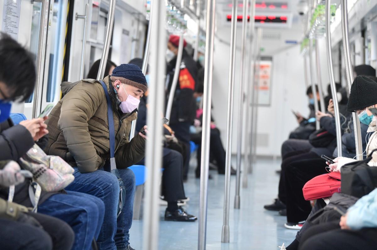 复工首日北京地铁依旧冷清,早高峰客流量仍处低位