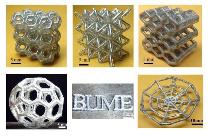 """科学家团队打造橡胶""""外骨骼"""" 让液态金属结构保持其形状"""