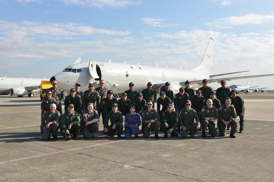澳空军P8A反潜巡逻机访问日本共同演习