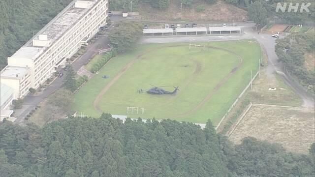 '突'发!【日本】自卫队 一黑鹰直升[ 机发[生故障 '迫降'高中校园
