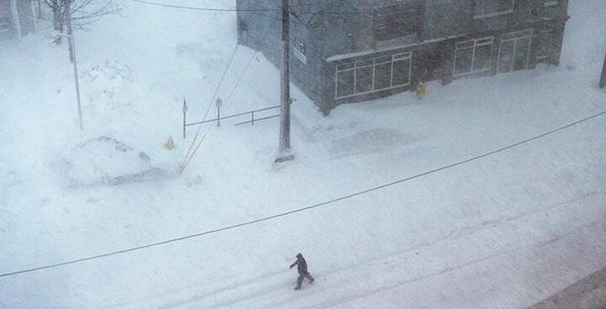 受暴雪影响 加拿大纽芬兰省首府宣布进入紧急状态