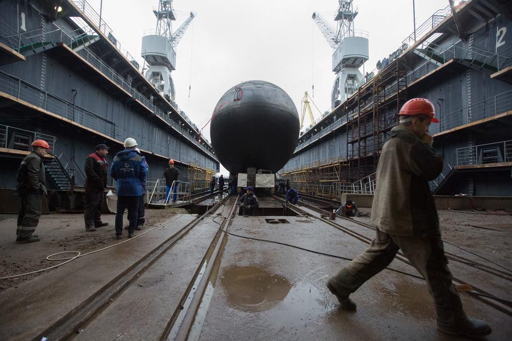 俄為太平洋艦隊建造的第二艘636.3型潛艇下水