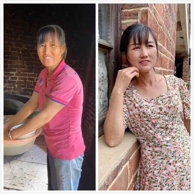 女孩为农村女性化妆,变妆前后对比感动网友
