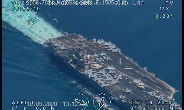 画面高清!伊朗用国产无人机拍下美军航母(图) 第4张