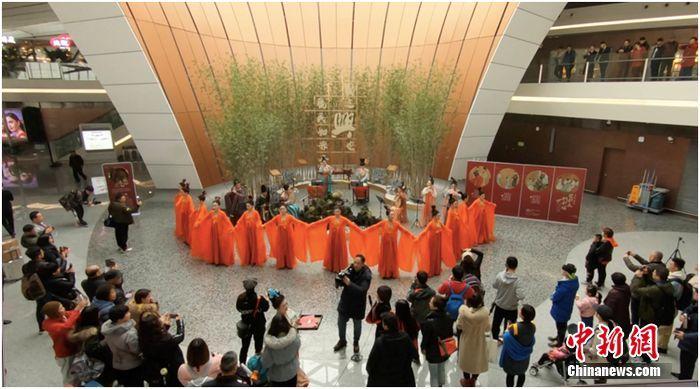 北京大兴国际机场古风盛宴 宴请归家旅人
