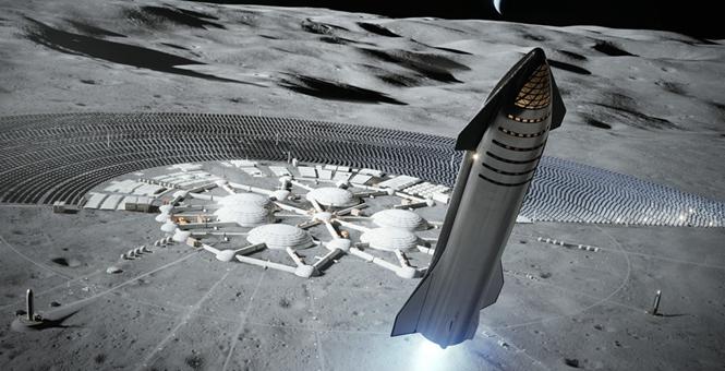 SpaceX星舰渲染图发布 或将三年左右实现载人着陆月球