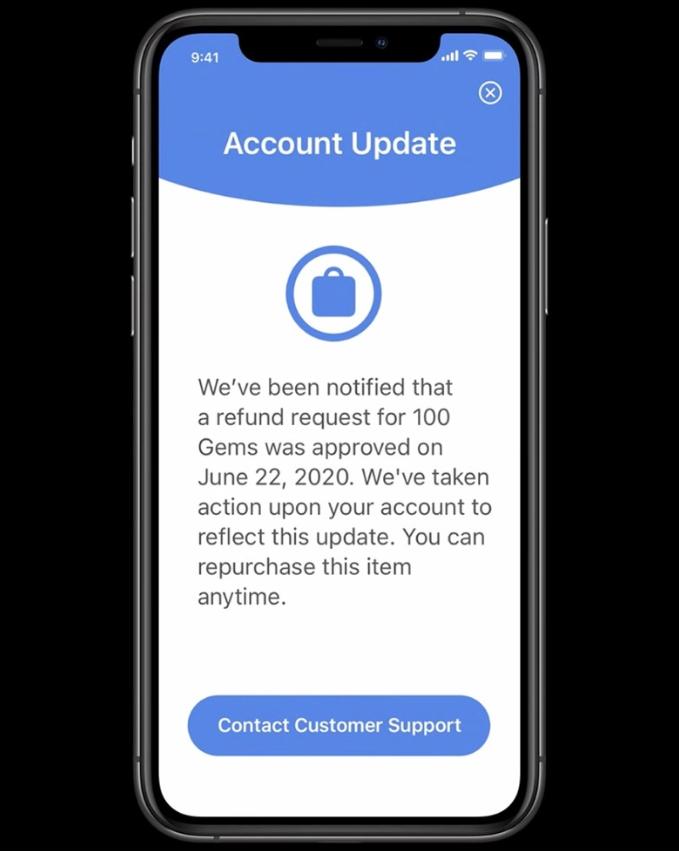 苹果推出应用内购买服务器通知系统 让开发者知道客户何时申请退款