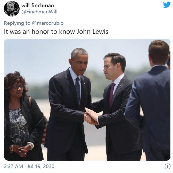 """dafa888:美国""""民权运动首脑""""去世,卢比奥发合影致敬翻车:认错人了 第4张"""