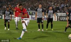 欧联-马夏尔点球破门 曼联1-0终结11个客场不胜