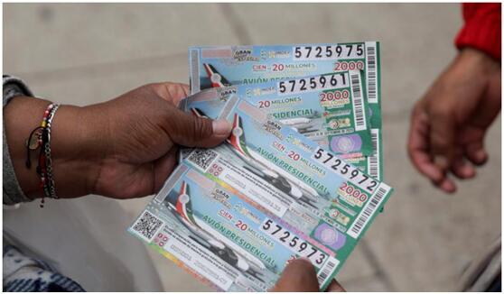 """墨西哥""""总统专机""""彩票开奖前,总统呼吁民众:抓住最后机会,快买彩票"""