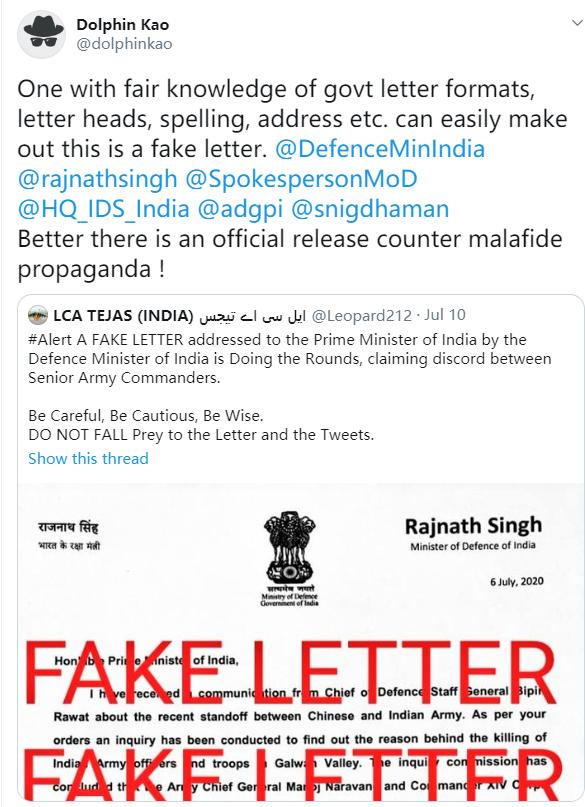 allbet登陆官网:印度防长写给莫迪的信承认错误并要求撤换指挥官?印媒:核实后确认其从未写过 第4张