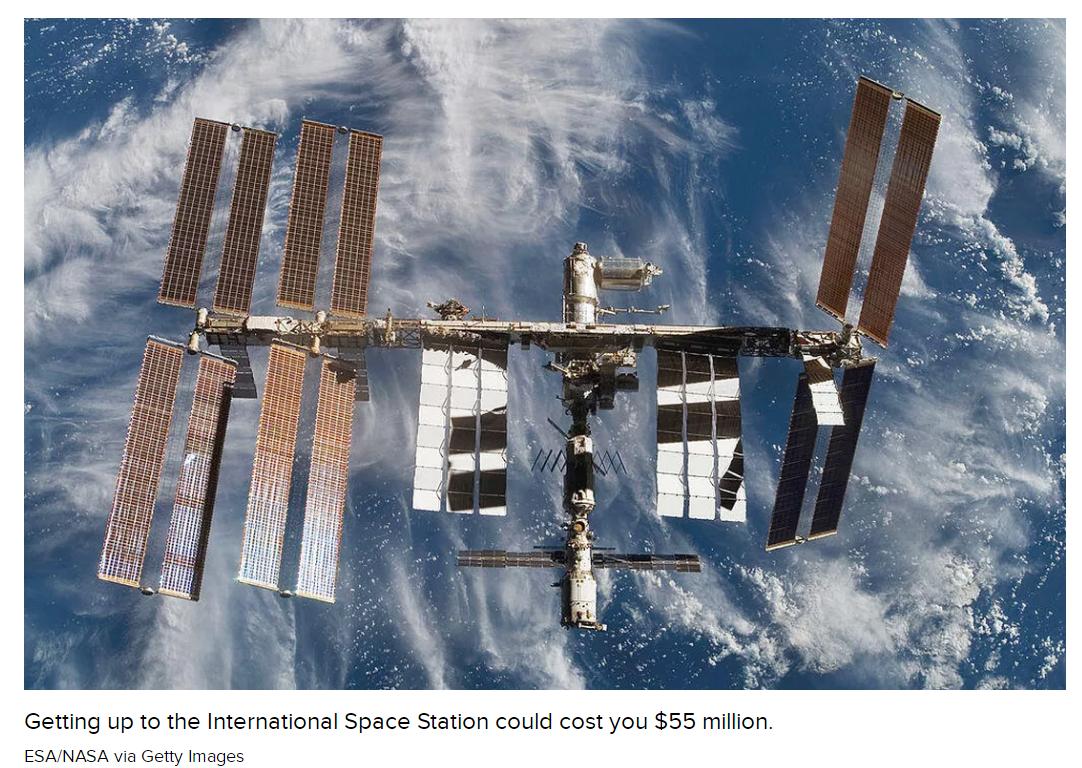 外媒:SpaceX太空10日游票价定为5500万美元 已有一个名额被预定