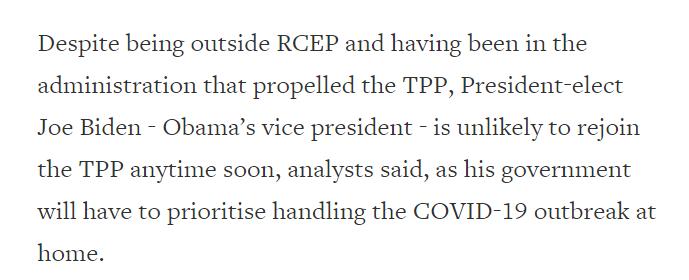 《【杏鑫娱乐客户端登录】环球深观察丨外媒关注RCEP为何没有美国:反全球化只会孤立自己》