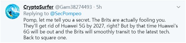 """英国刚宣布禁用华为,蓬佩奥就急着""""欢迎""""……网友""""回怼"""":美国不喜欢别人在科技上超过他们!"""