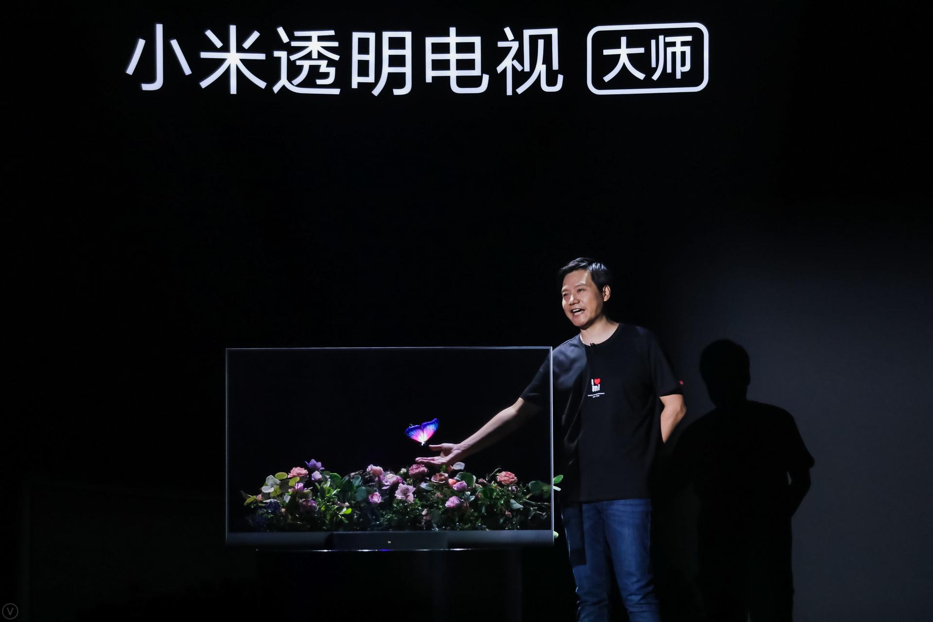 电视大师系列第二款高端产品小米透明电视惊艳亮相 售49999元