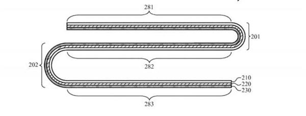 苹果新专利曝光:折叠屏iPhone具有柔性外壳 对折叠屏手机呈现出浓厚的兴趣