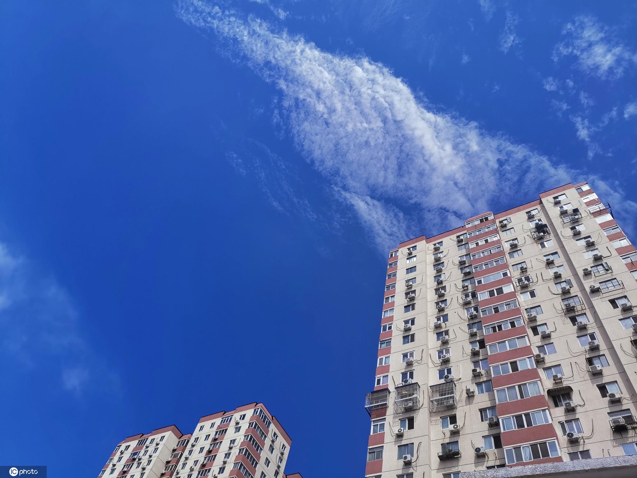 北京暴雨过下现高颜值天空?蓝天白云风景如画惹人醉