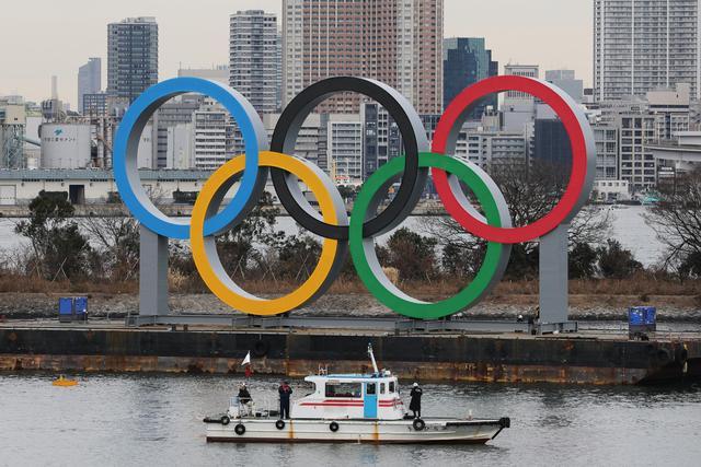 东京巨型五环标志被移走