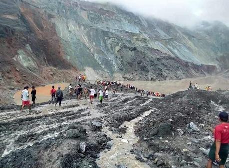 联博统计:缅甸帕敢翡翠矿区发生大规模塌方 罹难人数上升至166人 55人受伤