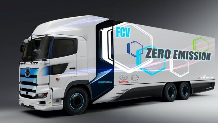 为减少二氧化碳排放 丰田打造氢燃料电池卡车