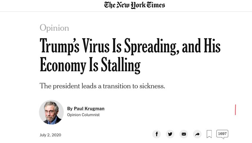 """allbetgmaing下载:美确诊病例激增 白宫宣称的""""抗疫胜利""""或已成为一纸空话 第1张"""