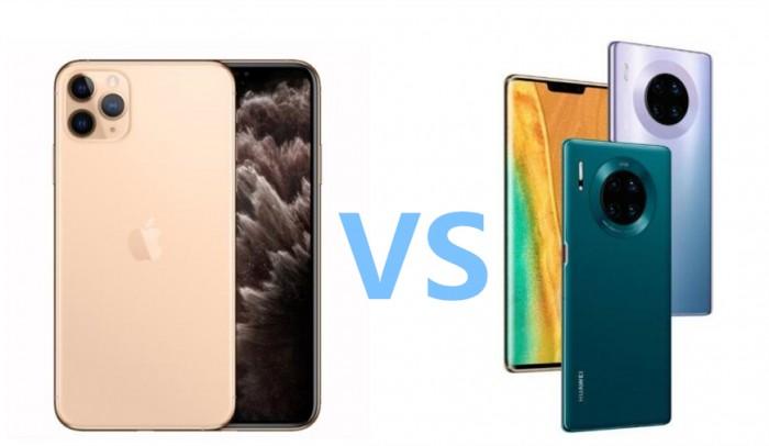 iPhone 11 Pro vs 华为Mate 30 Pro 照相机对比