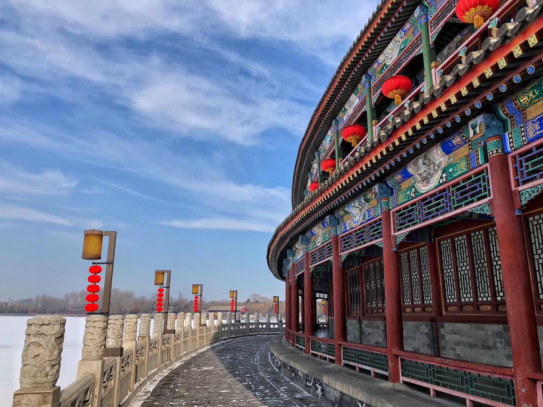 组图|雪后初晴的北京北海