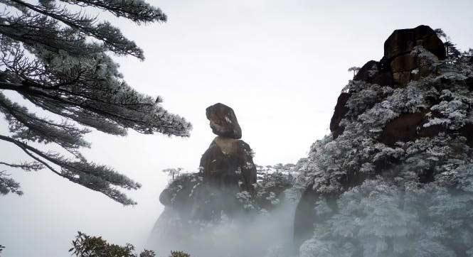 三清山迎首场冬雪