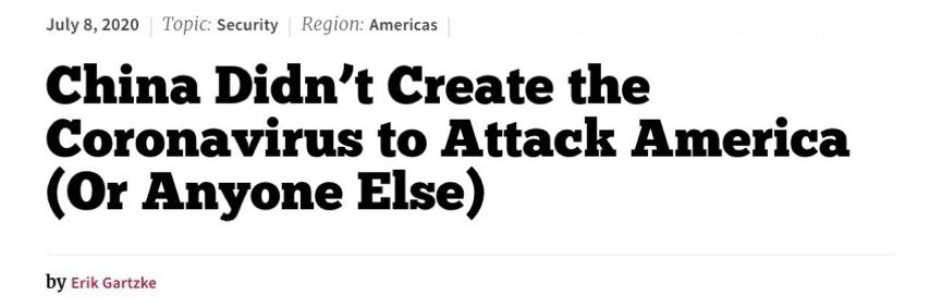 "allbet注册:美国加州大学教授撰文批判""中国制造新冠病毒""阴谋论:逻辑破绽显而易见 第1张"