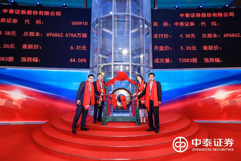 中泰证券6月3日正式挂牌,目标冲击券商第一方阵