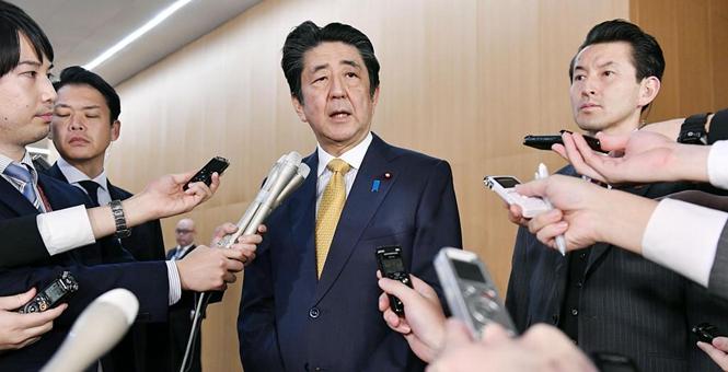 韩国称推迟终止韩日军情协定 安倍晋三出席记者会