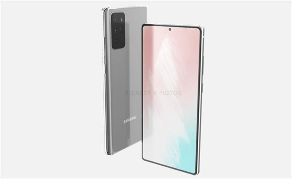 三星Galaxy Note 20渲染图曝光:挖孔屏+潜望四摄插图