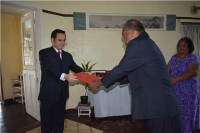 与中国复交后,这个大洋洲岛国迎来首任中国大使