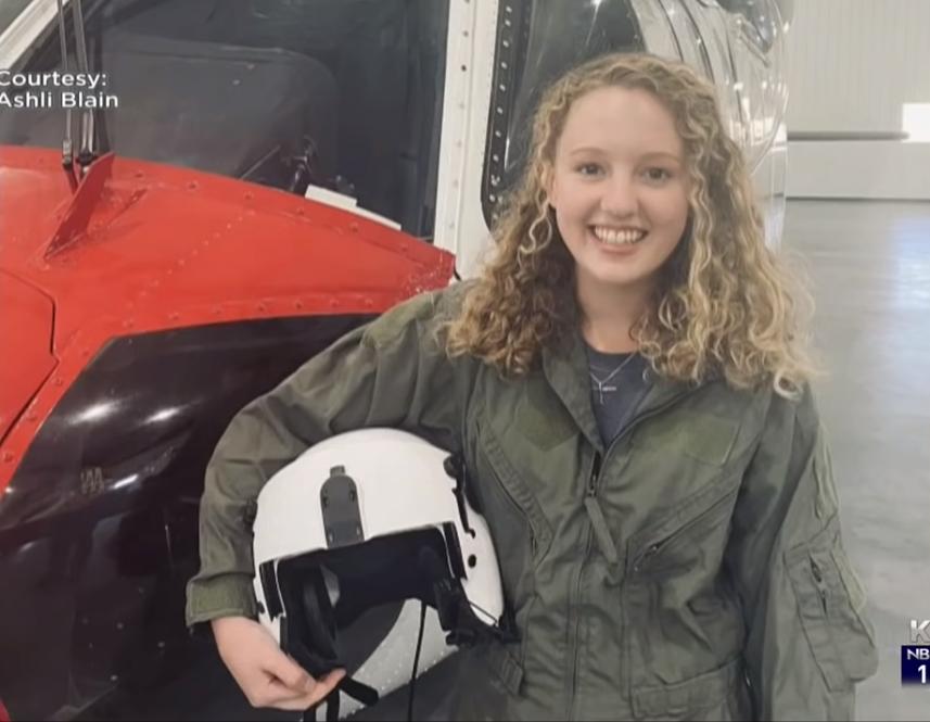 环球ug:山火肆虐!美国19岁少女开直升机灭火 开学当天奋战到破晓 第2张
