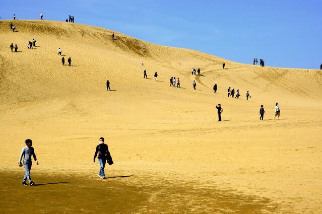 日本四连休带火日本鸟取沙丘旅游