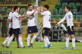 欧预赛:意大利9-1狂胜亚美尼亚10战全胜收官