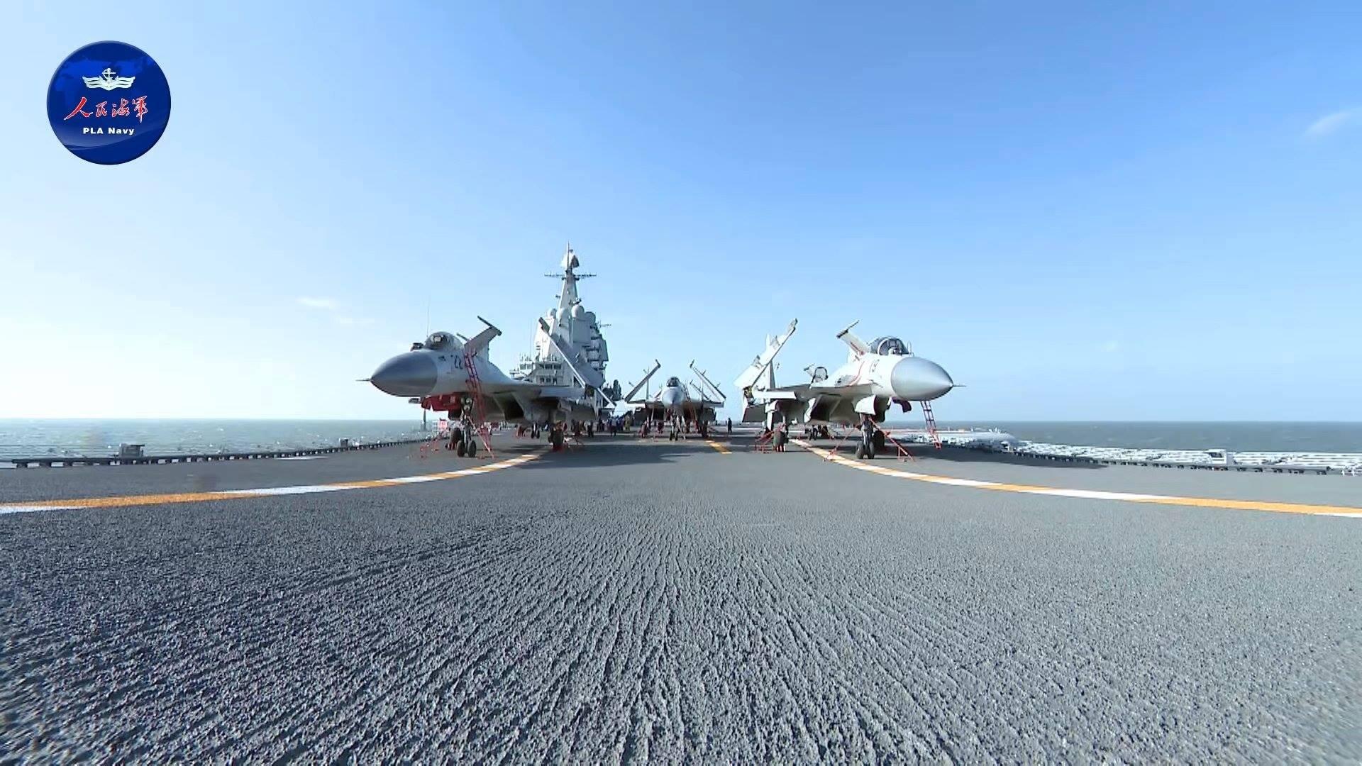 国产航母赴南海训练画面公开?这些细节值得关注