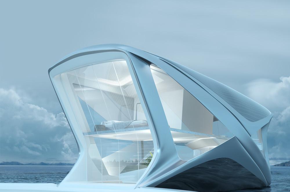 波兰设计师设计出浮动船屋 畅想未来人居理念