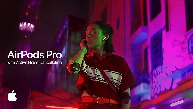 苹果在新广告中主推AirPodsPro的主动式降噪功能 还支持通透模式