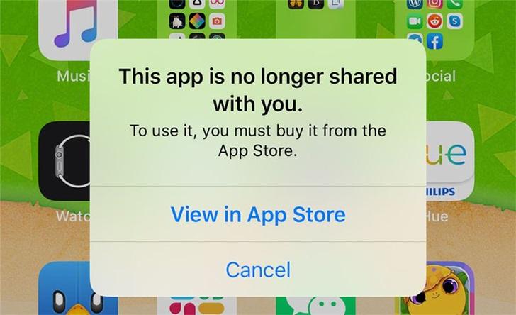 """外媒:部分iPhone用户收到""""此应用不再与您共享""""提示"""