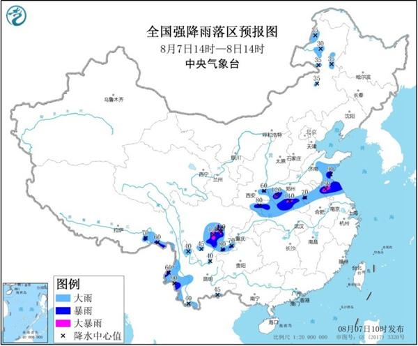 暴雨黄色预警!河南江苏四川盆地等地局地有大暴雨