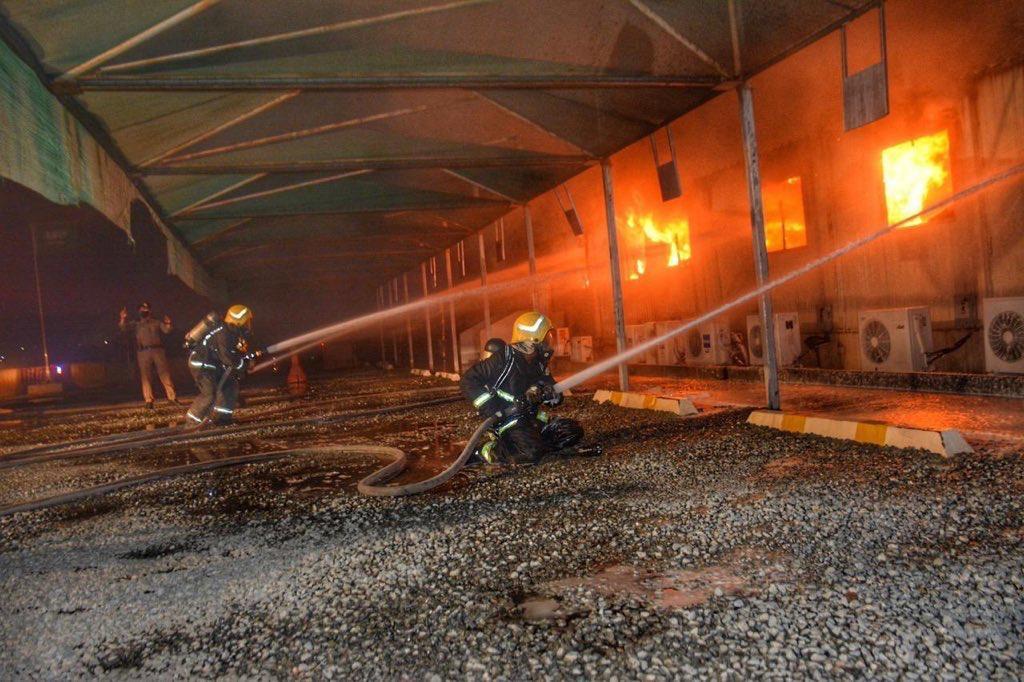 沙特吉達一火車站發生火災
