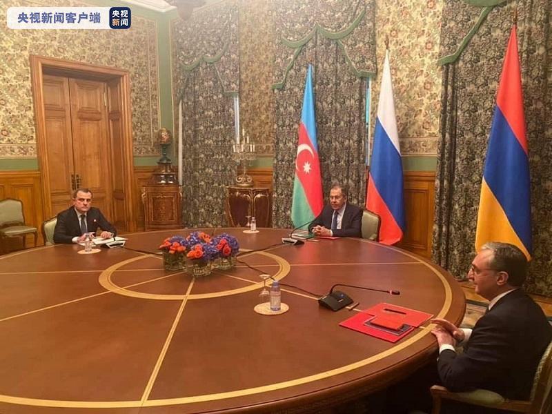 俄罗斯、亚美尼亚和阿塞拜疆三外洋长在莫斯科举行会谈
