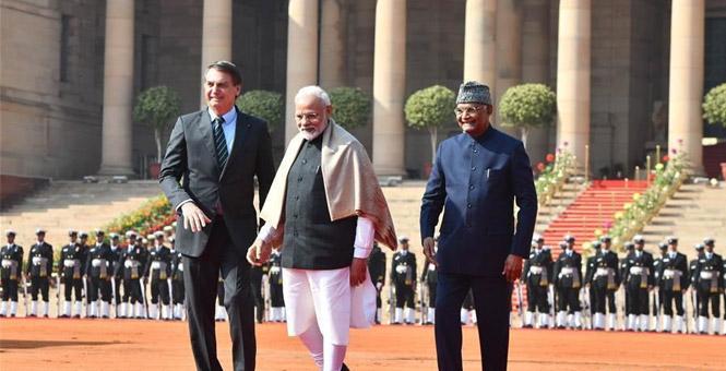 巴西总统访问印度