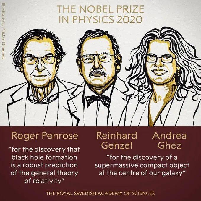 3人分享今年诺贝尔物理学奖,缘故原由有关黑洞 第1张