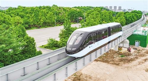"""重庆市首条""""云巴""""示范线项目在重庆璧山区正式亮相"""
