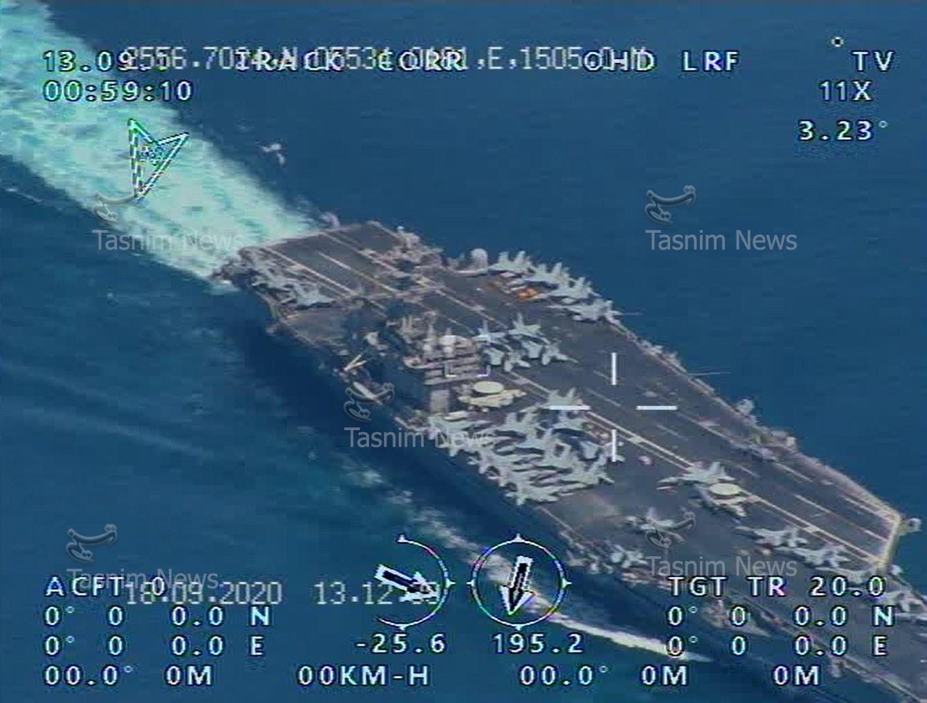 画面高清!伊朗用国产无人机拍下美军航母(图) 第1张