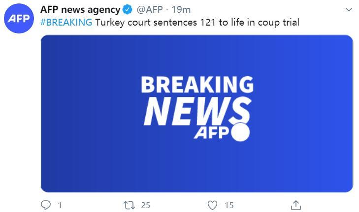 欧博电脑版下载:快讯!外媒:土耳其121人因曾贪图推翻总统被判无期徒刑