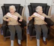 温暖又可爱!英国百岁老人在生日会上兴奋唱歌