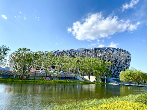 云游中国 | 北京鸟巢周边花开春意盎然